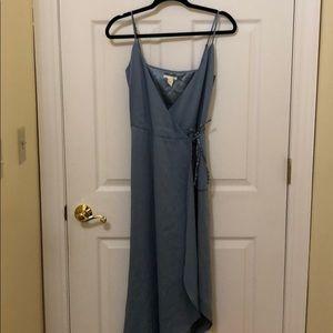 Sky blue dress wrap